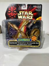STAR WARS EPISODE I ~ GUNGAN CATAPULT ACCESSORY SET ~ NEW ON CARD FROM 1999