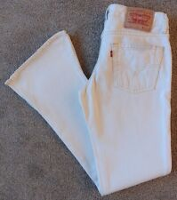 Women's Levis 547 Flared Jeans Size 10S (36S) W28 L30 White Levi Strauss Flares