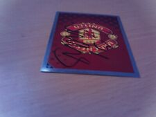 signed man utd match attax badge of ex player cory evans