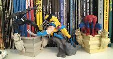 3 Statue MARVEL Statuette Comics Spider-Man Costume N Wolverine Logan Collection