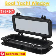 """Boat Marine Yacht Rectangle Porthole Opening Portlight Window 16""""X 8"""" Black"""