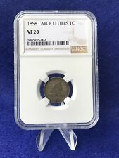 1858 LARGE LETTERS  FLYING EAGLE CENT 1c PENNY *NGC VF20 VERY FINE*