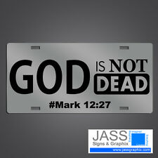 Christian License Plates - God Is Not Dead Christian Mirror Car Tags - Jesus