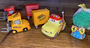 4-Cars Mattel Disney Pixar Cars Guido & Luigi Ferrari 1:55 Diecast Toys Car