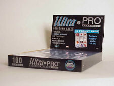 100 ULTRA PRO PLATINUM 12-POCKET Pages 2 1/2 x 2 1/4 Sheets Protectors  New