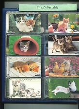 JAPAN USED PHONE CARDS * 8 PCS CATS # JP38
