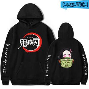 Demon Slayer Japanese Anime Surrounding Men's Fashion Casual Hooded Sweater