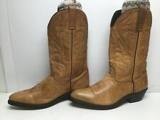 VTG MENS UNBRANDED COWBOY LIGHT BROWN BOOTS SIZE 10 D