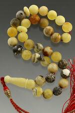 Islamic 33 Round Prayer Beads 9mm Genuine BALTIC AMBER TASBIH 20.7g 180712-3