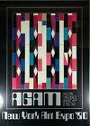 YAACOV AGAM Poster 1980 New York City Art Expo Framed