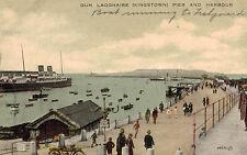 Dun Laoghaire (Kingstown),Ireland,Pier & Harbour,Ocean Liner in Port,1928