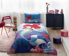 Disney Ariel Little Mermaid 100% Cotton Bedding Set Duvet Cover Set Single Twin