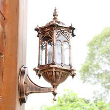 Antique Exterior Wall Light Fixture Aluminum Glass Lantern Outdoor Garden  ❤