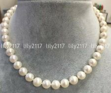 Fashion 10-11mm Natural akoya white round freshwater cultured pearl necklace18''