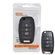 Silicone Key Case Cover For Kia Forte Optima Sorento Soul Sedona Remote Fob