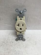 (Lot of 10) Leviton 5801-ISP Grounding 20A Single Outlet Ivory