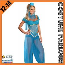 Womens Sexy Genie Jasmine Aladdin Ladies Fancy Dress Costume Size 12 - 14