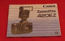 Canon Speedlite 420EZ Instruction Booklet