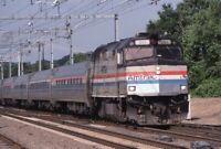 AMTRAK Railroad Train Locomotive 301 OLD SAYBROOK CT Original 2000 Photo Slide