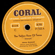 "JOHNNY DESMOND The Yellow Rose Of Texas  ""JUKEBOX-HIT""/ Learnin' the Blues S9153"