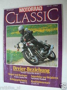 MOTORRAD CLASSIC 1989-04,WINDHOFF FOUR,HONDA C72,UT KTN 175,DKW ORE 250,TRIUMPH