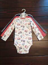 Carter's 4 Pack Little Baby Basics Long Sleeve Bodysuits Boys 1 Piece Sz 24 mos