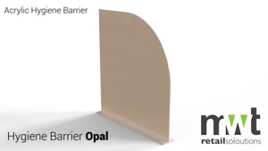 Opal Acrylic/Perspex Office Partitions various sizes- Screens, dividers, Office