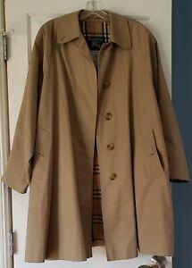Vintage BURBERRY TRENCH COAT NOVA CHECK WOMENS 12 R/MINI