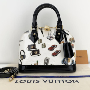 Louis Vuitton Vernis Alma BB in Stickers Satchel Crossbody Handbag