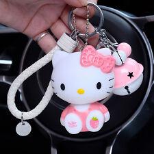 Cute Hello Kitty Cat Keyring Key Chain Keyfob Pendant Pink