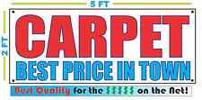 CARPET BEST PRICE IN TOWN Banner Sign NEW Larger Size High Quality! XXL