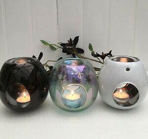Contemporary Oil / Melt Burner in 3 Colour Choices White ,Black , Lustre.