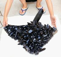 79.86LB  Natural Rare Beautiful Black QUARTZ Crystal Cluster Mineral Specimen