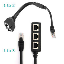 RJ45 Cable Adapter LAN Network Cable Splitter 1 to 2 , 1 to 3 Hub