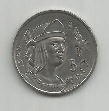 D78) MEXICO 50 CENT. 1950 - SILVER 0,300 - XF/EBC
