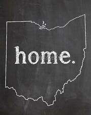 "OHIO HOME STATE PRIDE 2"" x 3"" Fridge MAGNET CHALKBOARD CHALK COUNTRY"