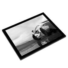 A3 Glass Frame BW - Silver Sports Car Supercar  #36615