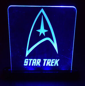 Star Trek LED Lighted Acrylic Sign