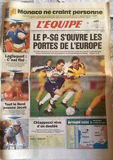 L'Equipe Journal 20/3/1992; Lagisquet c'est Fini/ PSG-Caen 3-1/ JAcob/ Chiappucc
