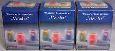 Pajoma Windlicht Glas im Glas Set Winter 3 f. sortiert Tannenbaum Mond Stern NEU