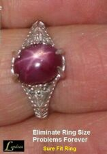 3.70 ct. Red Star Ruby Sterling Silver Ring