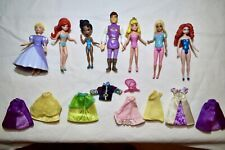 Polly Pocket Disney Princess Dolls & Prince With Fabric And Rubber Clothing