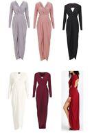 Womens Celebrity Slinky Gathered Goddess Prom Evening Maxi Dress UK Size 8-14