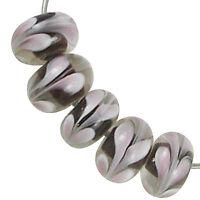 Trez Handmade Glass Lampwork Beads (Set of 10; Small Hole 1.5mm) Rondelle 379