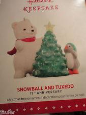 2015 HALLMARK Snowball and Tuxedo 15th anniversary ornament New