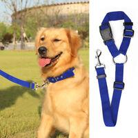 Ajustable Perro Cinturón Arnés Mascota Coche Vehículo de Seguridad Correa Nuevo