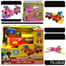 Kiddieland Toys Battery-Powered Mickey // Minnie Mouse Choo Train Tracks Ride On