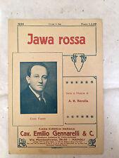 SPARTITO MUSICALE JAWA ROSSA ENZO FUSCO A.R. BORELLA 1924 MAZURCA
