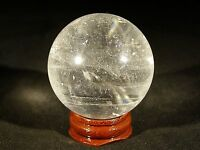 A Stunning 45mm Clear Tibetan Quartz Crystal Sphere Ball Reiki Healing