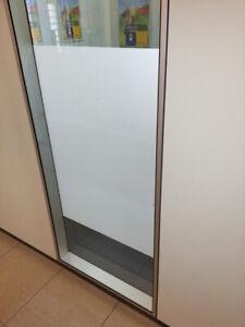 Milchglasfolie Glasdekor Fensterfolie Sichtschutz Türen Praxis Büro Möbel